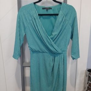 🌞Guess Teal Sweet and Sexy Silky Mini Dress